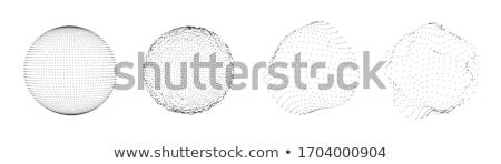 colorato · sfera · vettore · punteggiata · abstract · grafica - foto d'archivio © pikepicture