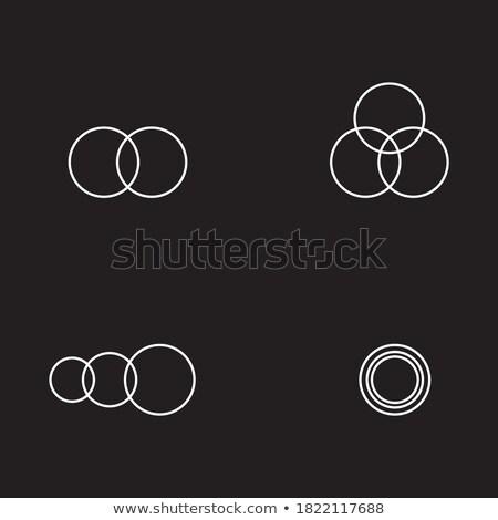 Foto stock: Creativa · anillos · de · boda · iconos · colección · boda