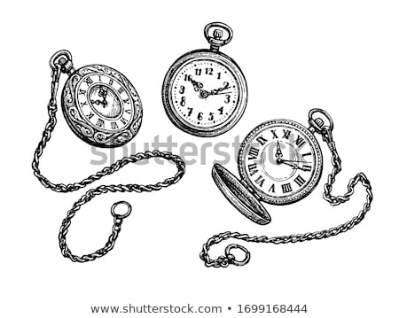 Foto stock: Silver Pocket Watch With Chain