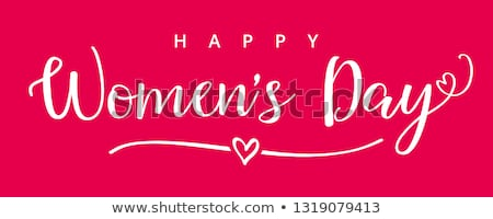 Best Wishes 8 March Womens Day Postcard with Eight Stock photo © robuart