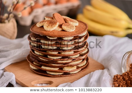 krep · muz · çikolata · pişirme · tatlı · yemek - stok fotoğraf © mpessaris