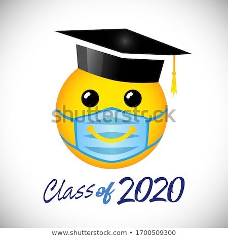 Ukończeniu cap dyplom maskotka ilustracja Zdjęcia stock © lenm