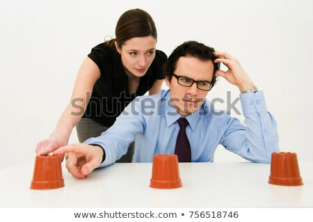 Couple ponder location of hidden item Stock photo © IS2