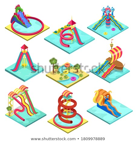 Kids water attraction isometric 3D element Stock photo © studioworkstock