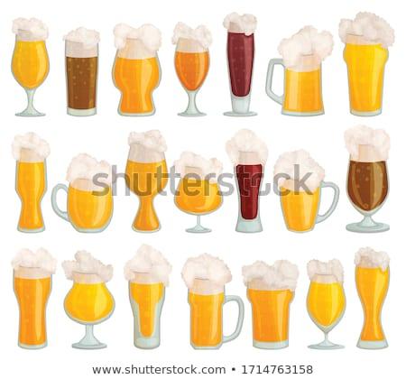 Vers bier glas geïsoleerd icon cartoon Stockfoto © studioworkstock