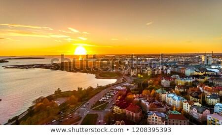 mimari · deniz · kale · Helsinki · Finlandiya - stok fotoğraf © benkrut
