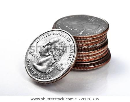 Boglya negyed dollár pénzügy dollár érme Stock fotó © IS2