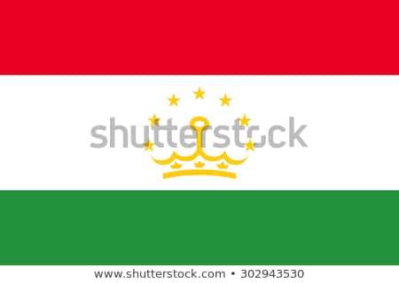 Таджикистан флаг белый знак зеленый путешествия Сток-фото © butenkow