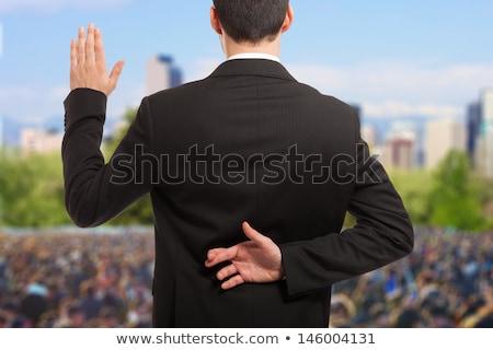 man politician swears Stock photo © studiostoks