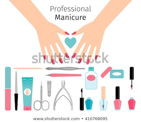 nail polish remover poster vector illustration stock photo © robuart