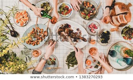Zdjęcia stock: Lamb And Salad