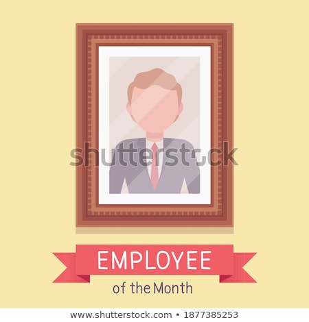 Alkalmazott hónap legjobb munkás portré keret Stock fotó © popaukropa