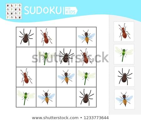 Jogo crianças insetos crianças fotos atividade Foto stock © Olena