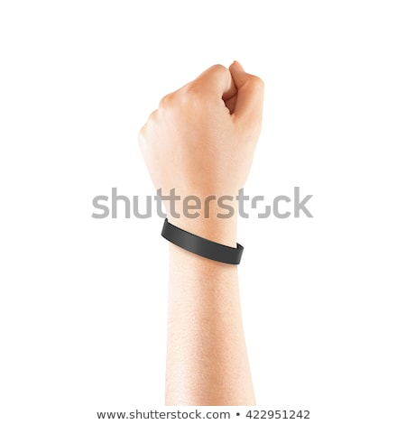 ストックフォト: 手 · 着用 · リストバンド · テンプレート