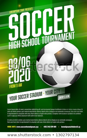 soccer tournament league background with text space Stock photo © SArts