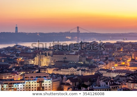 Lisbon Cityscape in Portugal at Sunset Stock photo © rognar