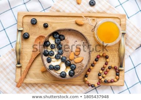 szeder · smoothie · granola · görög · joghurt · üveg - stock fotó © lana_m