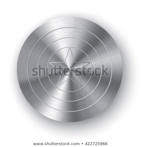 Shield with a star, superhero shield, comics shield Stock photo © olehsvetiukha