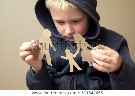 Gescheurd papier samen alleen groep eenzaam nota Stockfoto © Zerbor