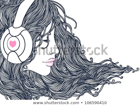 Stock photo: Long hair women_pop music