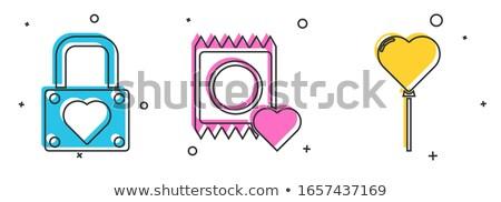 Védett szeretet szív óvszer terv háttér Stock fotó © popaukropa