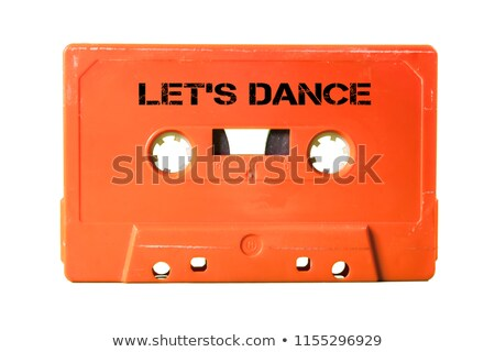 Let's dance text white background Stock photo © bluering