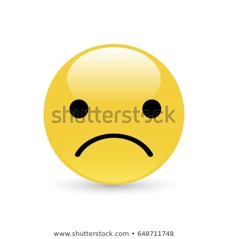 Sentimiento indispuesto emoticon triste pelota funny Foto stock © yayayoyo