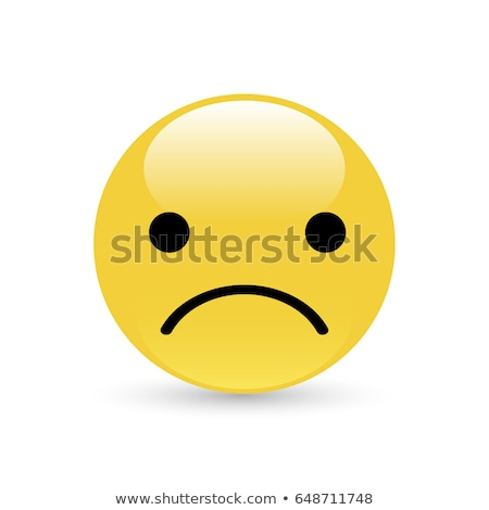 Sentimento indisposto emoticon triste palla divertente Foto d'archivio © yayayoyo