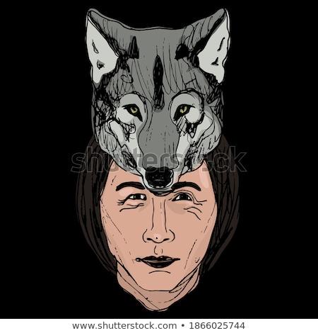 férfi · őslakos · amerikai · jelmez · illusztráció · főnök - stock fotó © lenm