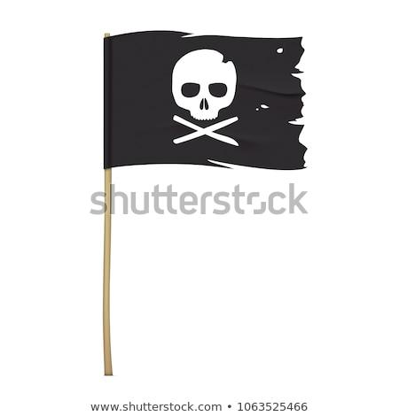 kalóz · zászló · koponya · grunge · textúra · halál · hajó - stock fotó © Evgeny89