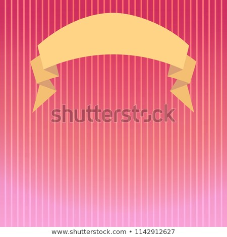 Striped background in pink tones with a backlight beam and a semicircular ribbon Stock photo © heliburcka