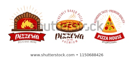 appetizing pizza in the oven stock photo © cookelma