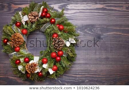 Christmas krans drogen pine Rood Stockfoto © dash
