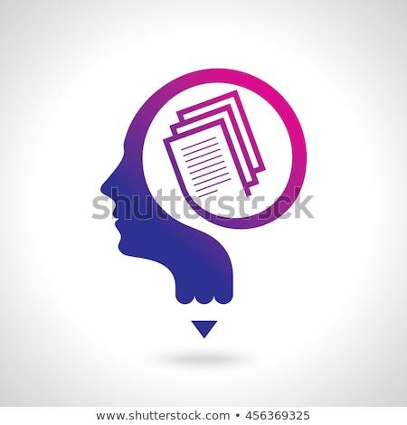 Developer on Books Thinking Vector Illustration Stock photo © robuart