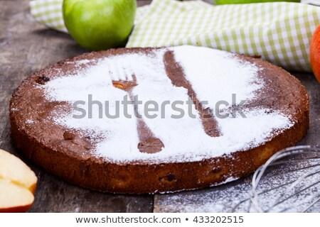 negro · pudín · manzanas · sidra · manzana · frutas - foto stock © mpessaris