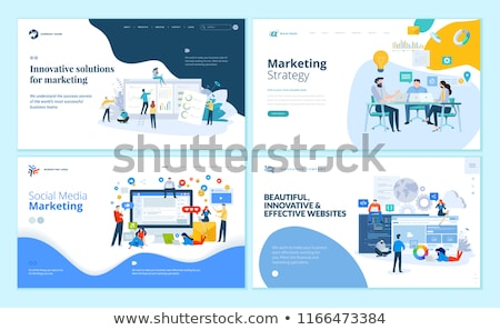 Web Development People Set Vector Illustration Stock photo © robuart