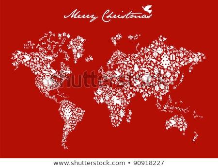 Noël cartes neige monde vacances Photo stock © ussr