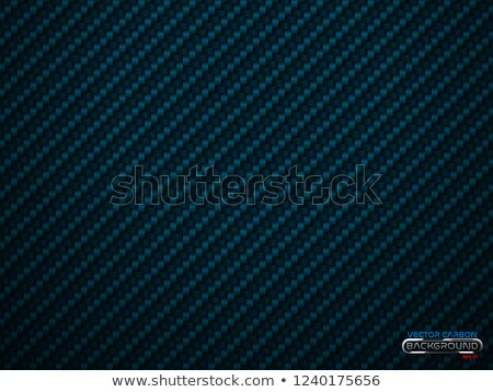Vector blue carbon fiber volume background. Abstract decoration cloth material wallpaper with shadow Stock photo © Iaroslava