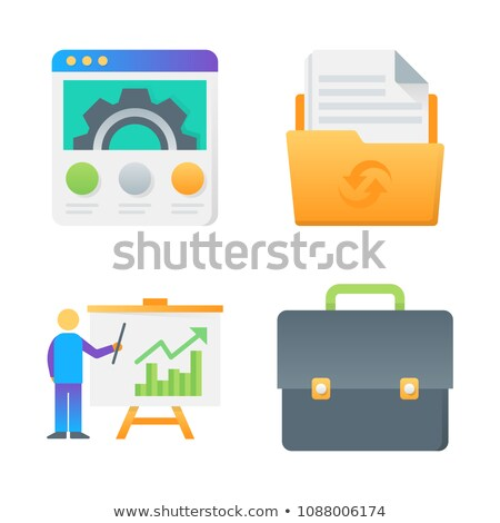 modern landing page set 06 stock photo © genestro