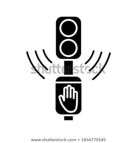 semplice · semaforo · icona · vettore · solido · logo - foto d'archivio © kyryloff