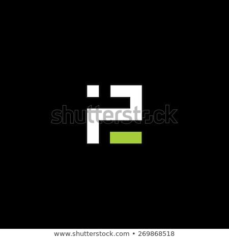 logotype p letter p logo icon vector green symbol Stock photo © blaskorizov