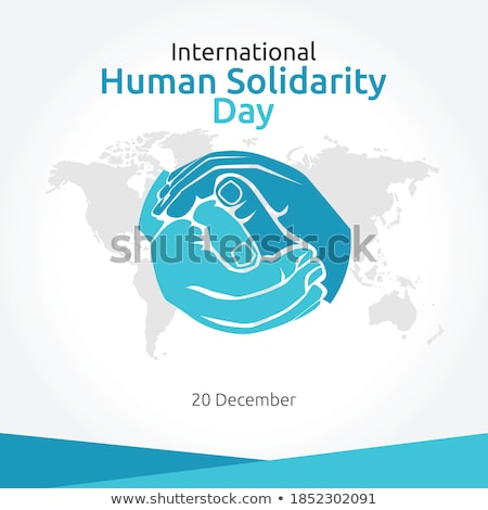 Human Solidarity Day illustration colorful hands Stock photo © cienpies