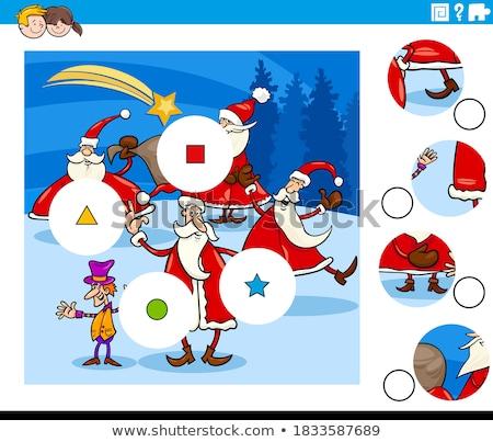 Combinar peças quebra-cabeça desenho animado Foto stock © izakowski