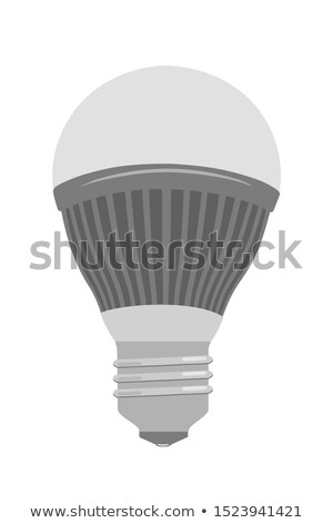 energy saving light bulb isolated on white background vector cartoon close up illustration stock photo © lady-luck