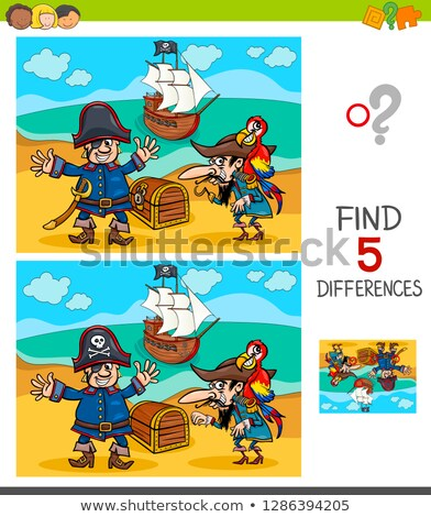 spot the difference treasure chest stock photo © olena