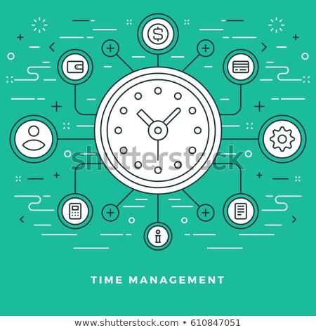 time management concept banner header stock photo © rastudio
