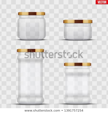 Veggie Conserve and Fruit Preserve Glass Jars Set Stock photo © robuart