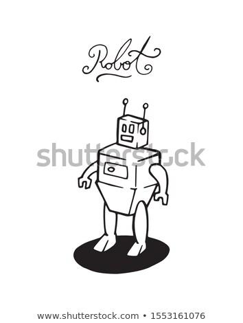 Cyborg lichaam schets doodle icon Stockfoto © RAStudio