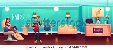 beauty spa salon receptionist and procedure vector stock photo © robuart