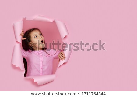 little girl looking scared stock photo © colematt